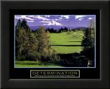 Determination: Golf Posters