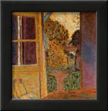 Door Open Onto the Garden Poster by Pierre Bonnard