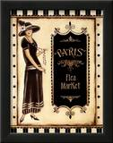 Paris Flea Market Poster by Kimberly Poloson