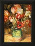 Tulips in a Vase Posters by Pierre-Auguste Renoir