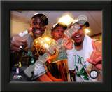 Kevin Garnett, Ray Allen, & Paul Pierce with the 2007-08 NBA Champion trophy Posters