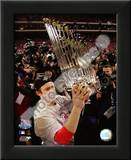 Chase Utley With World Series Trophy Poster