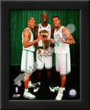 Kevin Garnett, Ray Allen, & Paul Pierce with the 2007-08 NBA Champion trophy Prints
