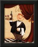 The Waiter, Vin Poster by Daphne Brissonnet