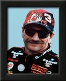 Dale Earnhardt Portrait With Tazz Hat Prints
