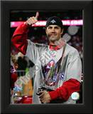 Cole Hamels w/2008 World Series MVP trophy Posters