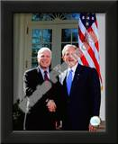 Senator John McCain & President George W. Bush at the White House March 5, 2008, Washington, DC Prints