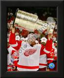 Johan Franzen with the Stanley Cup, Game 6 of the 2008 NHL Stanley Cup Finals; 31 Print