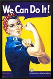 We Can Do It! (Rosie the Riveter) Print by J. Howard Miller