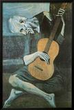 Viejo con guitarra, ca. 1903 Póster por Pablo Picasso