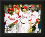 Jimmy Rollins, Chase Utley, & Ryan Howard 2008 NLCS Game 1 Celebration Prints