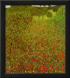 Field of Poppies Art by Gustav Klimt