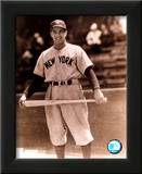 Phil Rizzuto - Holding bat across legs, posed sepia Poster
