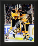 Patrice Bergeron, Zdeno Chara, & Marco Sturm Celebrate Game Winning Goal 2010 NHL Winter Classic Posters