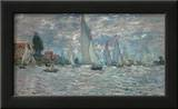 The Sailboats - Boat Race at Argenteuil, c. c.1874 Art by Claude Monet