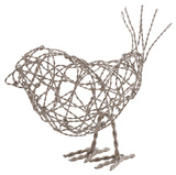 Nickel Scribble Bird - Lg Home Accessories