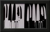 Knives, c.1982 (Silver and Black) Print by Andy Warhol