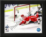 Valtteri Filppula scores a diving third period goal during Game 2 of the 2008 NHL Stanley Cup Final Posters