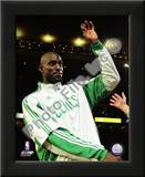 Kevin Garnett with 2007-08 Championship Ring Posters