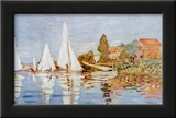 Boats at Argenteuil Print by Claude Monet