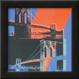 Brooklyn Bridge, c.1983 (pink, red, blue) Art by Andy Warhol