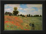 Wild Poppies Art by Claude Monet
