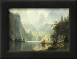 In the Mountains Art by Albert Bierstadt