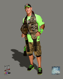 John Cena with the WWE Championship Belts 2014 Photo