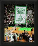 The Boston Celtics Raise their 2007-08 Championship Banner Art