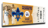 Anthony Davis NBA Debut Mega Ticket - New Orleans Hornets Stretched Canvas Print