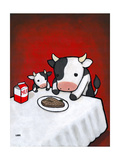Revenge Is a Dish (Cow) Premium Giclee Print by Luke Chueh