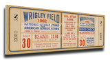 1962b MLB All-Star Game Mega Ticket, Cubs Host - MVP Leon Wagner, Angels Stretched Canvas Print