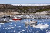 Boats in Greenland Photographic Print by Françoise Gaujour
