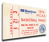 1976 NCAA Basketball Finals Mega Ticket - Indiana Hoosiers Stretched Canvas Print