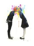 Big Bang Kiss Giclee-tryk i høj kvalitet af Lora Zombie