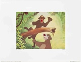 Walt Disney's The Jungle Book: Baloo Tugs Bagheera's Tail Print