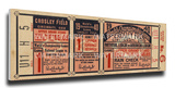 1940 World Series Mega Ticket - Cincinnati Reds Stretched Canvas Print