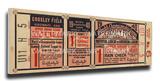 1940 World Series Mega Ticket - Cincinnati Reds Stretched Canvas Print