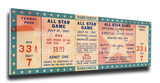 1961b MLB All-Star Game Mega Ticket - Red Sox Host - Fenway Park Stretched Canvas Print