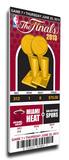 2013 NBA FinalsMega Ticket - Miami Heat Stretched Canvas Print