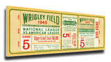 1945 World Series Mega Ticket - Chicago Cubs Stretched Canvas Print