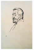 Bust of a Man Collectable Print by Egon Schiele