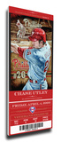 Chase Utley Artist Series Mega Ticket - Philadelphia Phillies Stretched Canvas Print