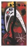 Femme et Oiseau dans la nuit Prints by Joan Miró