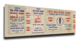1972 MLB All-Star Game Mega Ticket, Braves Host - MVP Joe Morgan, Reds Stretched Canvas Print
