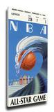 1990 NBA All-Star Game Mega Ticket, Heat Host - MVP Magic Johnson, Lakers Stretched Canvas Print