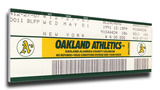 Rickey Henderson 939 Stolen Base Record  Mega Ticket - Oakland A's Stretched Canvas Print