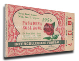 1956 Rose Bowl Mega Ticket - Michigan State Spartans Stretched Canvas Print