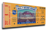1970 NHL All-Star Game Mega Ticket, Blues Host - MVP Hull Stretched Canvas Print