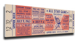 1963 MLB All-Star Game Mega Ticket, Indians Host - MVP Willie Mays, Giants Stretched Canvas Print